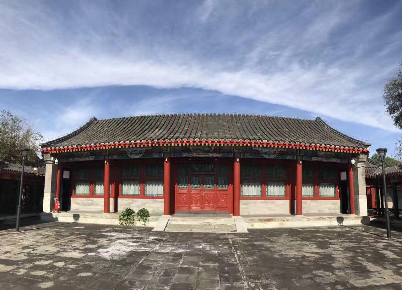 北京五开间前出廊(仿古)硬山建筑