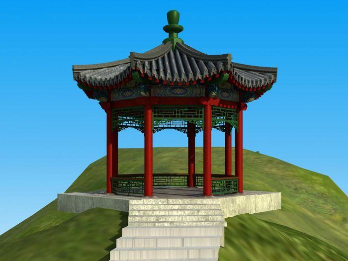 北京单檐(仿古)六角亭