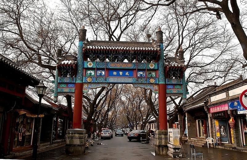 北京两柱三楼柱出头(仿古)牌楼